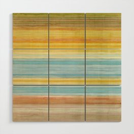 Colorbands Yellowstone Yellow Wood Wall Art