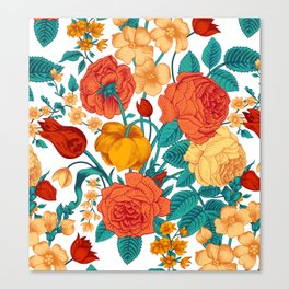 Vintage flower garden Canvas Print