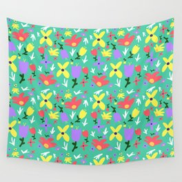 Bright Little Green Spring Handmade Pattern Wall Tapestry