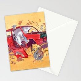 Polar bear unlucky Stationery Cards