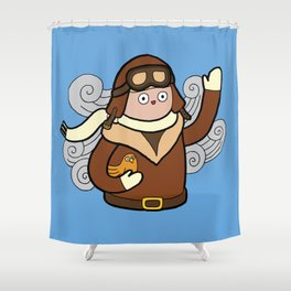 When I grow up I want to be a pilot! Shower Curtain