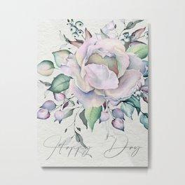 Happy Day – Pastel Rose. Metal Print