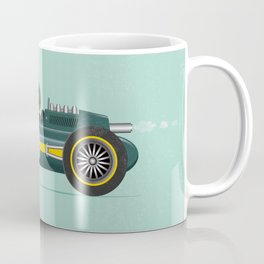 Green Retro Racing Car Coffee Mug