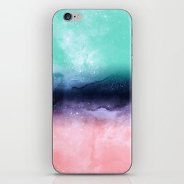 Modern watercolor abstract paint iPhone Skin