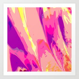 Explosive Abstraction Art Print