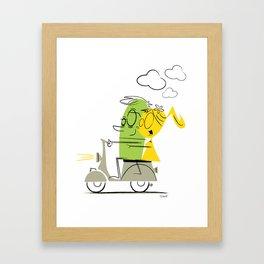 scooter ride! Framed Art Print