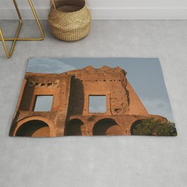 Windows and Clouds Palatine Ruins Rome Rug