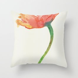 Fire Poppy Throw Pillow