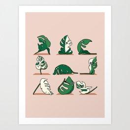 Monstera Yoga Art Print