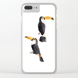 Couple of toucans Clear iPhone Case