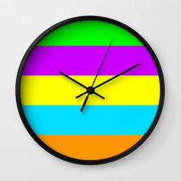 Neon Mix #4 Wall Clock