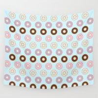doughnut Wall Tapestries featuring Doughnut Polka by Karolis Butenas