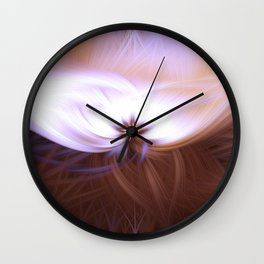 Twirling colours Wall Clock