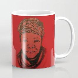 Maya Angelou - (red) Original Sketch to Digital Coffee Mug