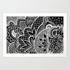 Midnight Blooming Art Print