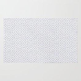 Persimmon Hitomezashi Sashiko - Blue on White Rug