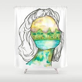 Florida Gril 4 Shower Curtain
