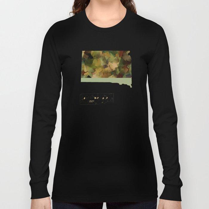 South Dakota state map Long Sleeve T-shirt