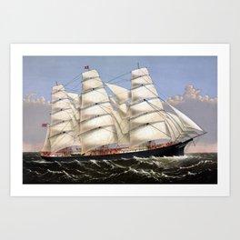 Clipper Ship Three Brothers Art Print