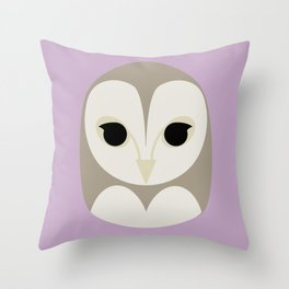 Pūce Throw Pillow
