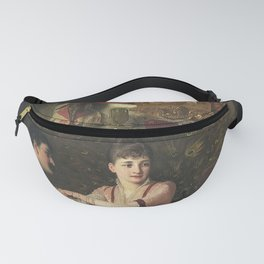 The Proposal Oil Painting by Knut Ekwall Fanny Pack