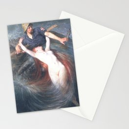 Fisherman and the Siren by Knut Ekwall Stationery Cards