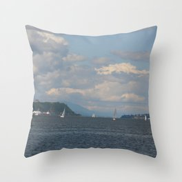 Sailing on the St Lawrence Throw Pillow