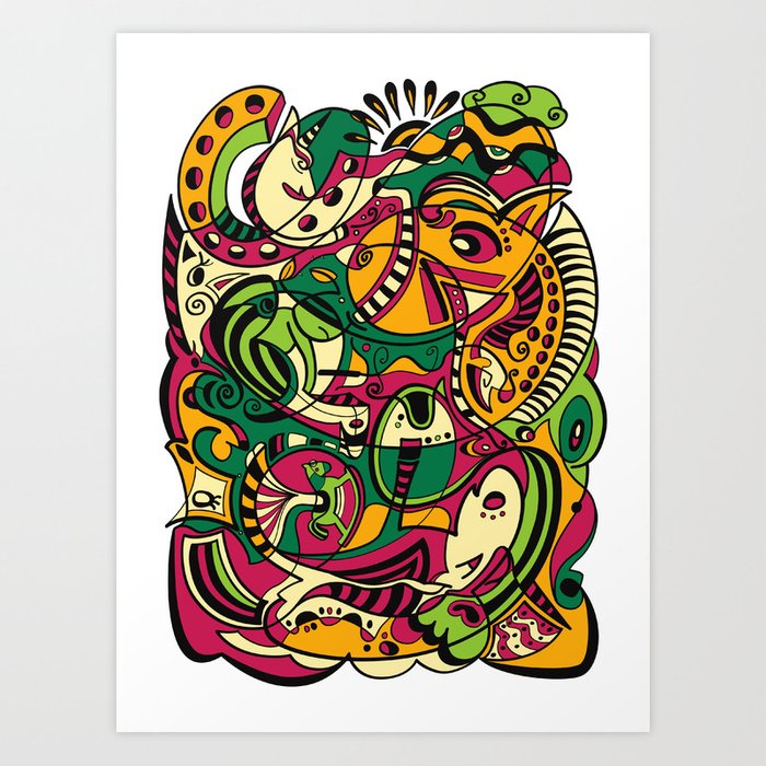 Horse -12 Animal Signs Art Print
