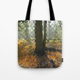 Extrude Trees Tote Bag