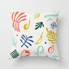 Vintage Plants Throw Pillow