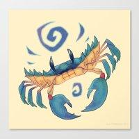 crab Canvas Prints featuring Crab by Anya McNaughton