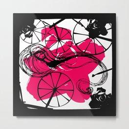 Briar Rose with Spinning Wheels Metal Print