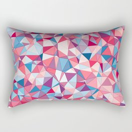 Colorful Low Poly Design Rectangular Pillow