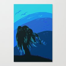 The tree blows at night Canvas Print