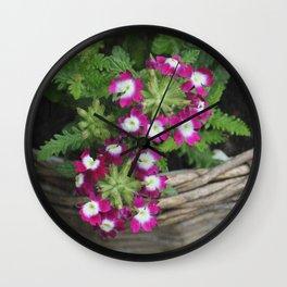 Flower Basket Wall Clock