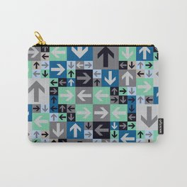 Arrow Pattern Blue Green Gray Carry-All Pouch