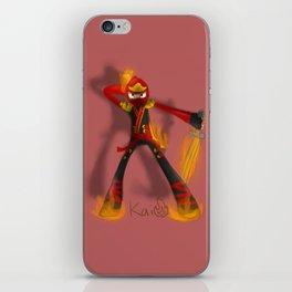 Flaming Kai iPhone Skin
