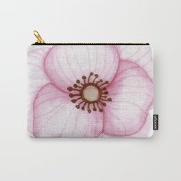 Little Pink Primula Flower Carry-All Pouch