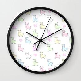Pastel Pacas Wall Clock