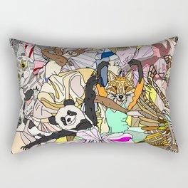 Party Animals Dancing Rectangular Pillow