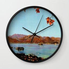 Stresa Borromeo Lake Maggiore 1927 Wall Clock