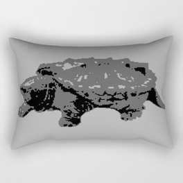 Turtle in the Mist Rectangular Pillow