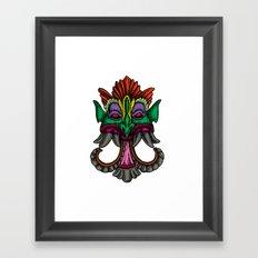 MONSTER FACE Framed Art Print