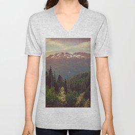 Mountain Sunset Bliss - Nature Photography Unisex V-Neck