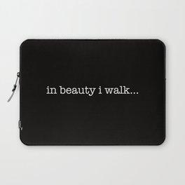 in beauty i walk... Laptop Sleeve