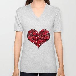 Barbed heart. Unisex V-Neck
