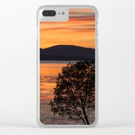 Sunset Over the Flats Clear iPhone Case