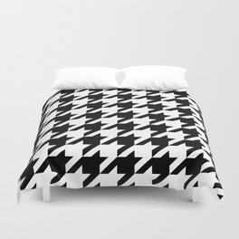 Classic Houndstooth Pattern Duvet Cover