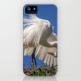 Great Egret Feathers iPhone Case
