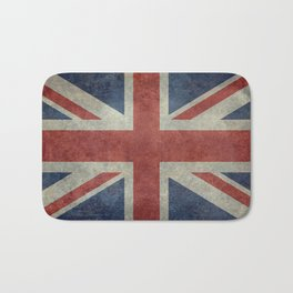 England's Union Jack flag of the United Kingdom - Vintage 1:2 scale version Bath Mat